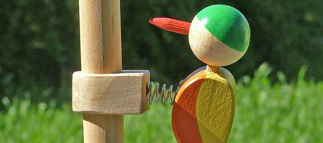 In legno perché è caldo, vivo, forte, saggio